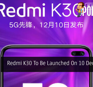 Redmi K30 To Be Launched On 10 December 20