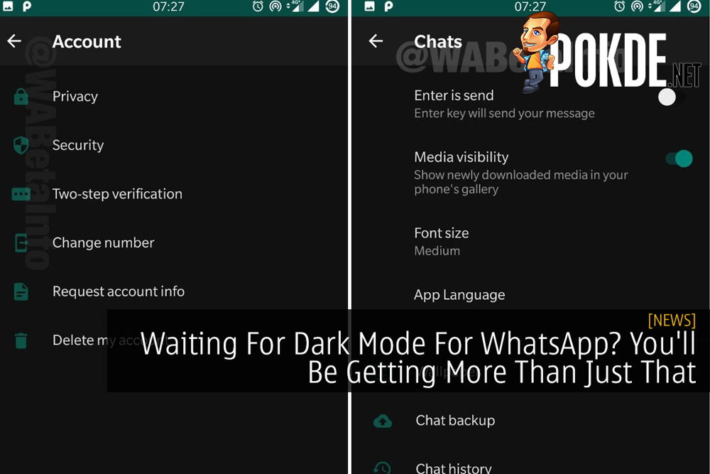 Waiting For Dark Mode For WhatsApp? You'll Be Getting More Than Just That 20