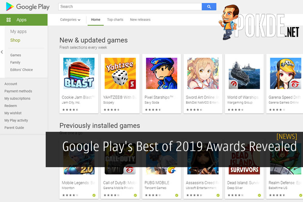 Google Play's Best of 2019 Awards Revealed 16