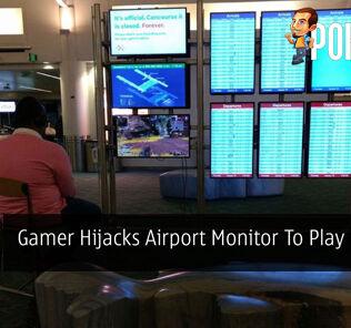 Gamer Hijacks Airport Monitor To Play His PS4 30