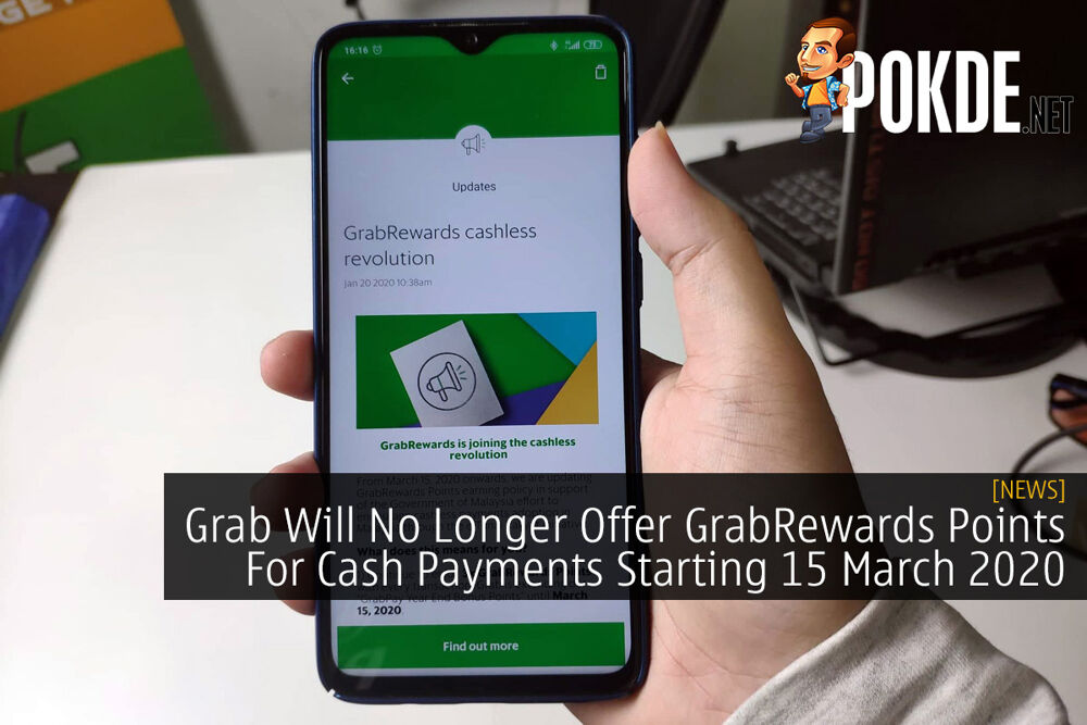 Grab Will No Longer Offer GrabRewards Points For Cash Payments Starting 15 March 2020 21