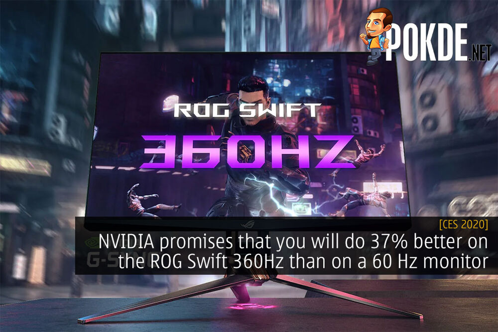 CES 2020: NVIDIA promises that you will do 37% better on the ROG Swift 360Hz than on a 60 Hz monitor 20