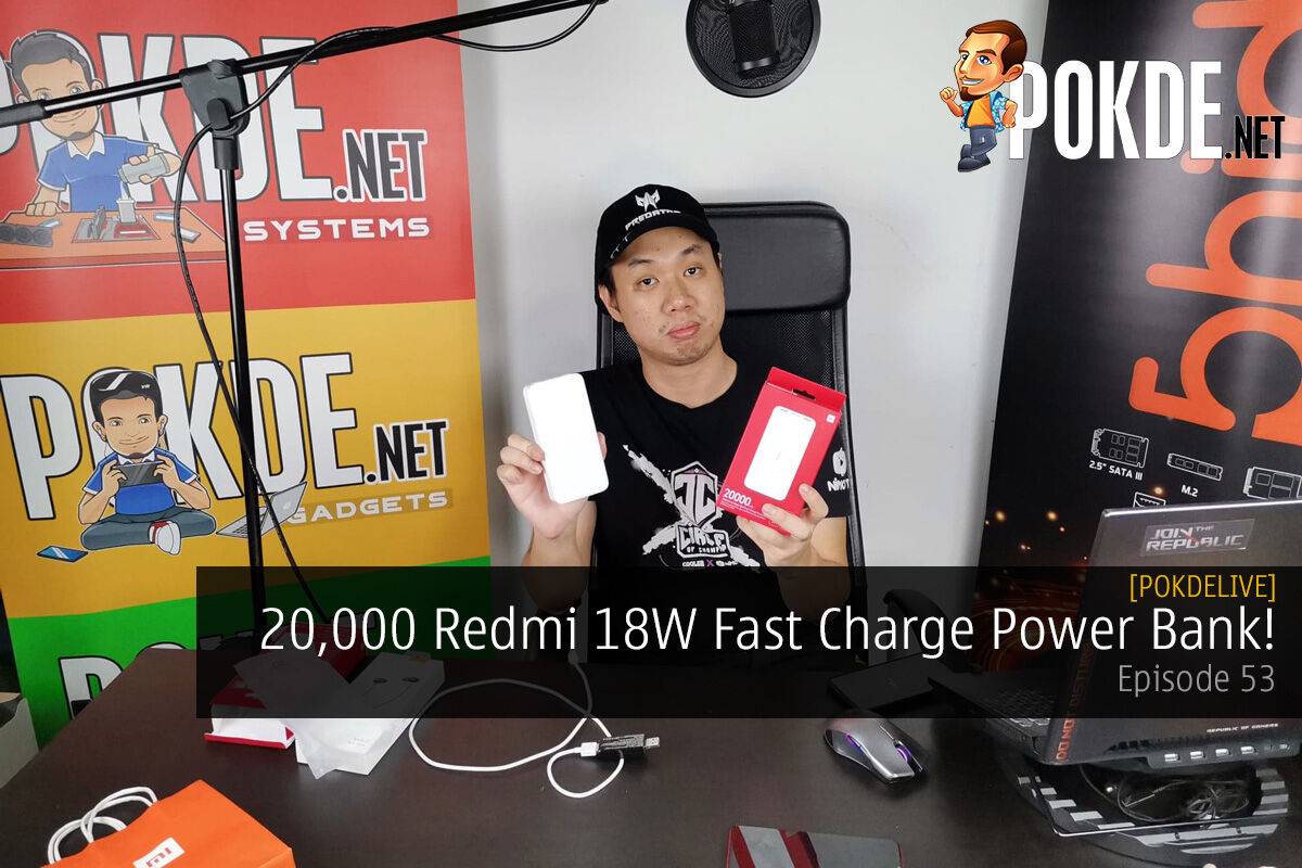 PokdeLIVE 53 — 20,000 Redmi 18W Fast Charge Power Bank! 10