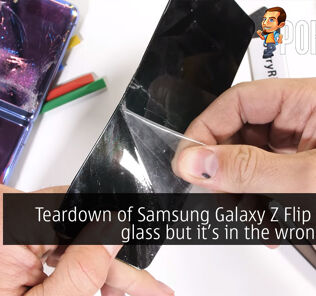 Teardown of Samsung Galaxy Z Flip reveals glass but it's in the wrong place 28