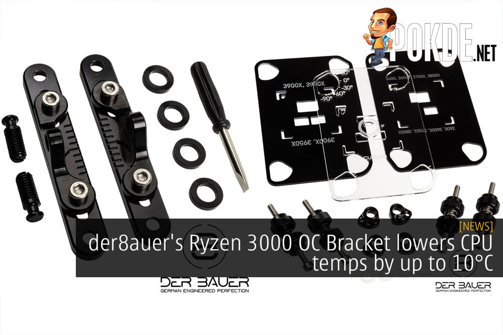 der8auer's Ryzen 3000 OC Bracket lowers CPU temps by up to 10°C 20