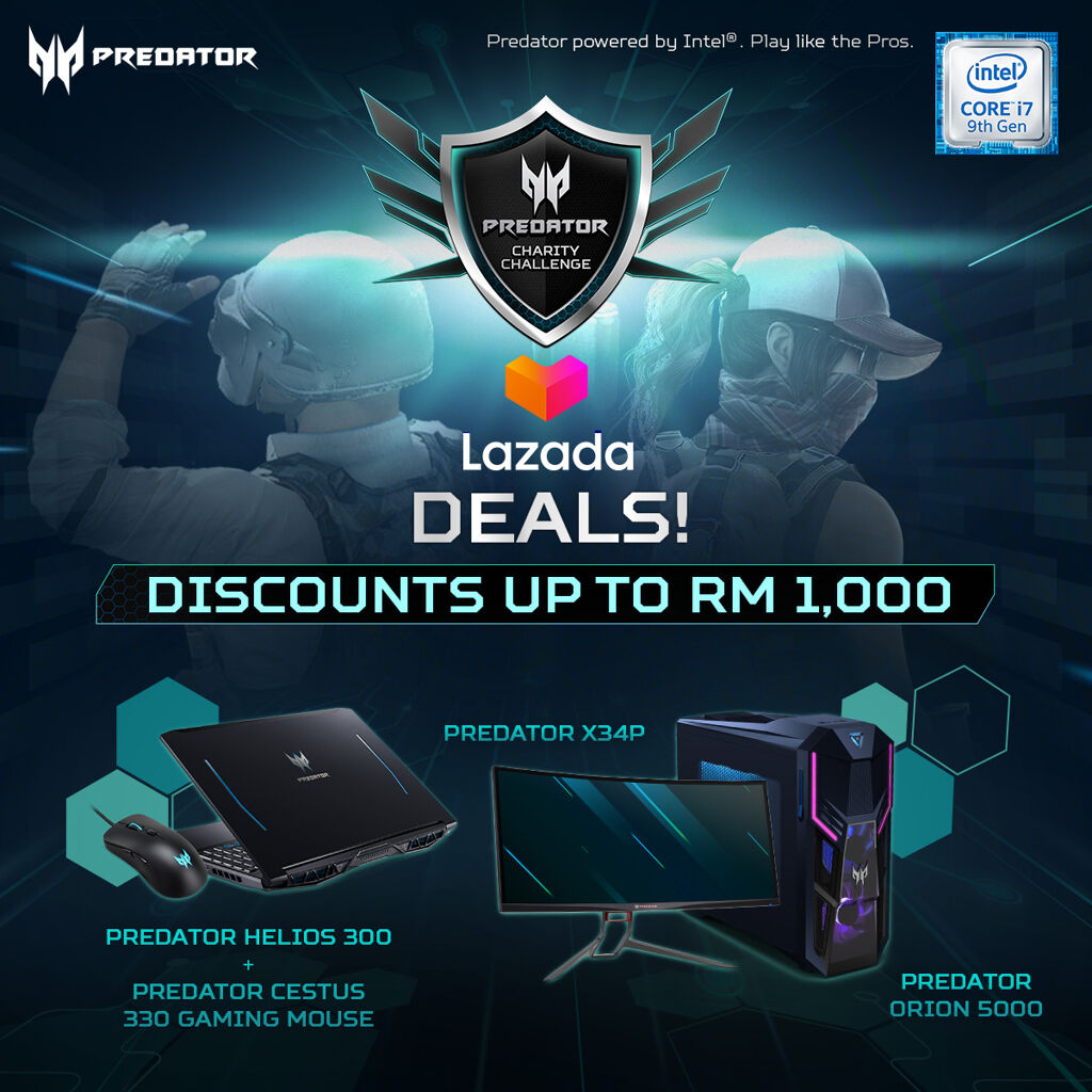 Acer Predator Charity Challenge Aims to Raise Up To RM15,000 for the Underprivileged During MCO 25