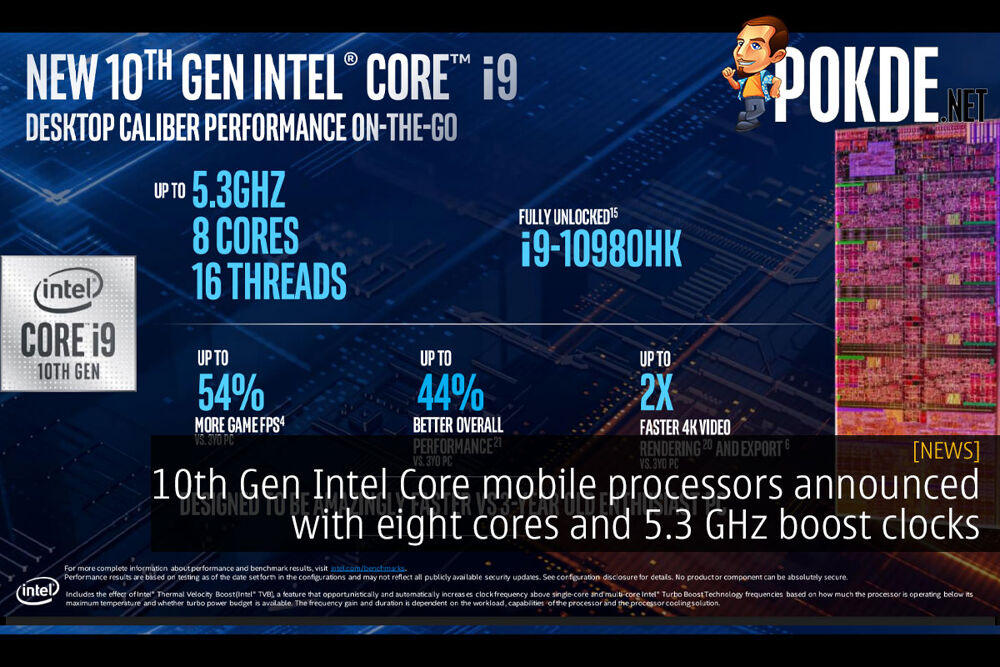 10th Gen Intel Core mobile processors announced with eight cores and 5.3 GHz boost clocks 21