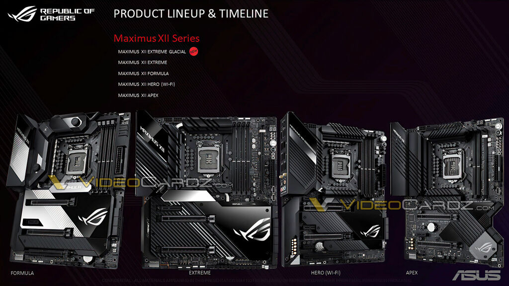 ASUS ROG Maximus XII Z490 boards leak with 16 power stage VRM design 20