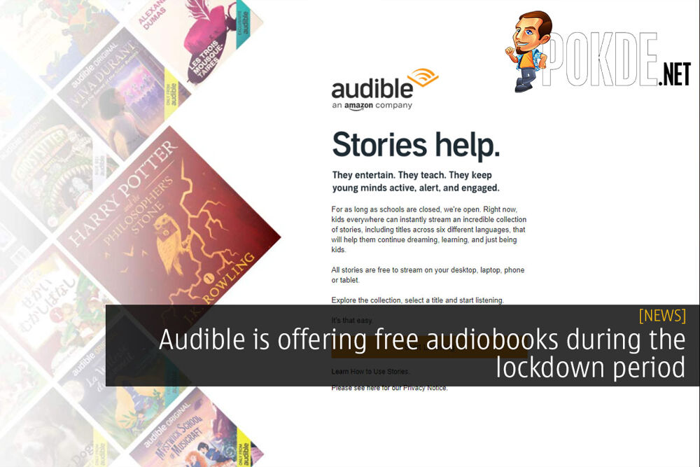 Audible is offering free audiobooks during the lockdown period 22