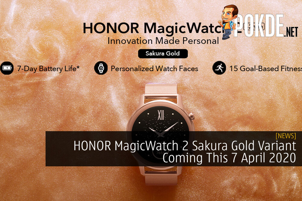 HONOR MagicWatch 2 Sakura Gold Variant Coming This 7 April 2020 25