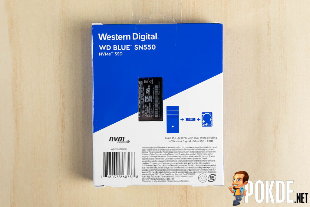WD Blue SN550 review box