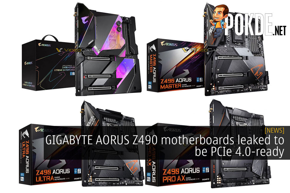 GIGABYTE AORUS Z490 motherboards leaked to be PCIe 4.0-ready 20