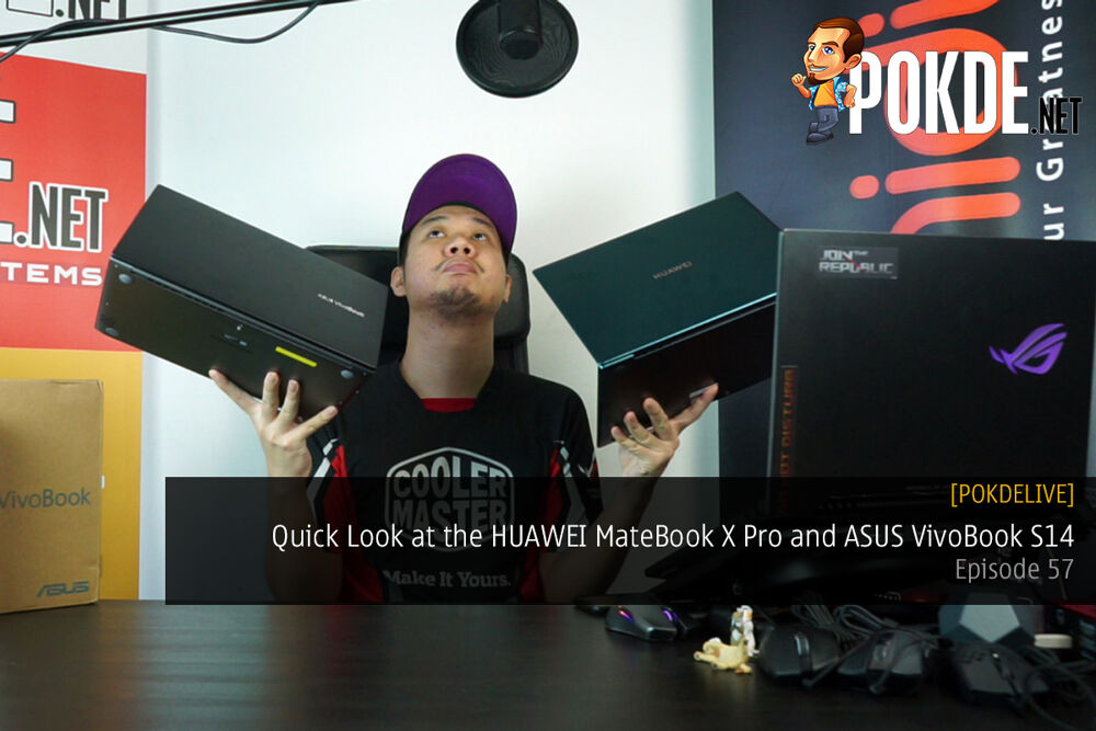 PokdeLIVE 57 — Quick Look at the HUAWEI MateBook X Pro and ASUS VivoBook S14 (M433) 19