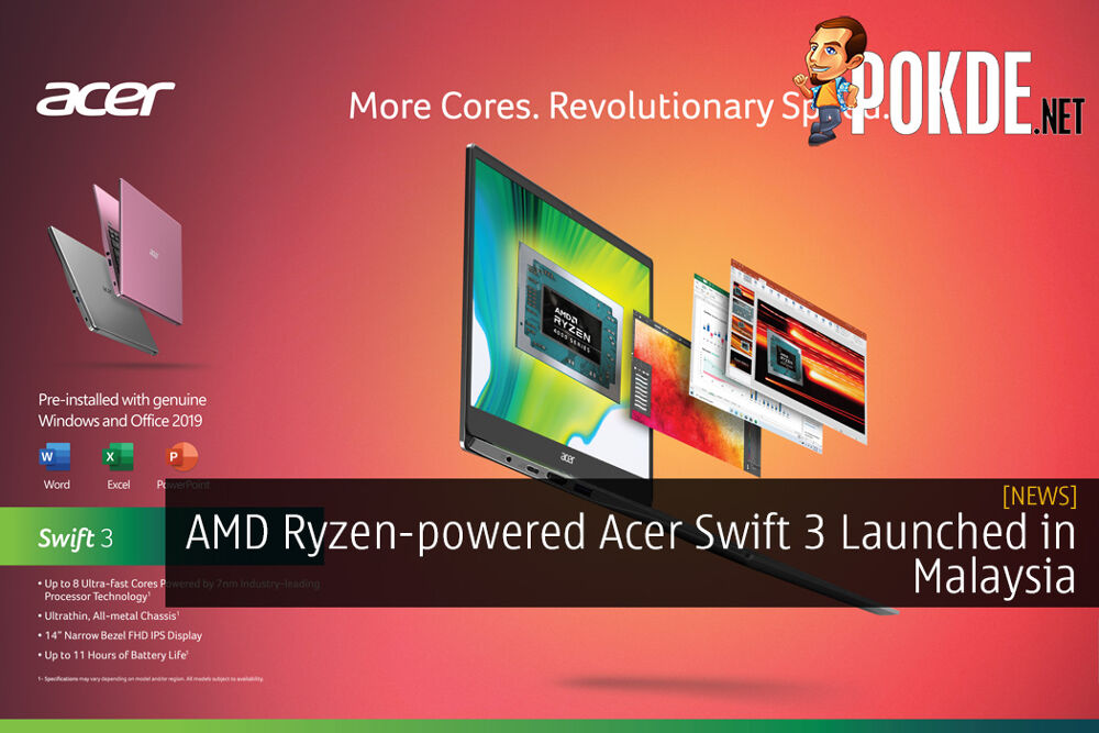 AMD Ryzen-powered Acer Swift 3 Launched in Malaysia