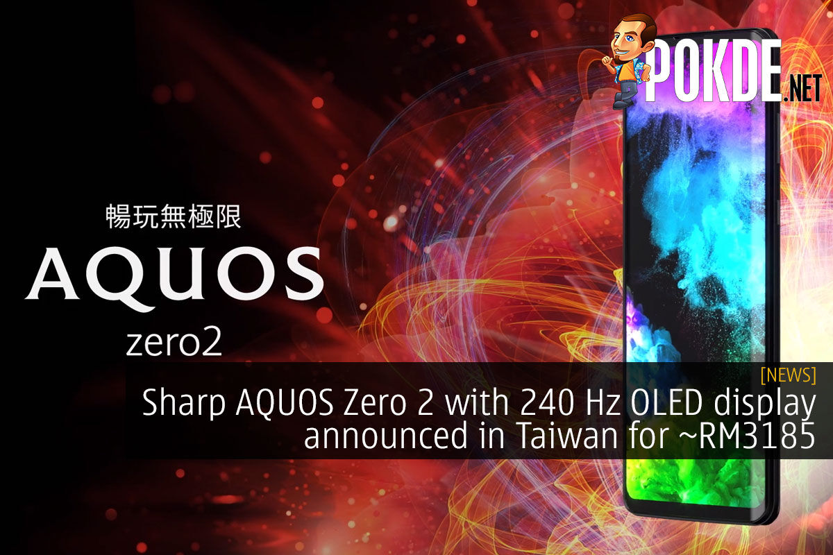 sharp aquos zero 2 240 hz display taiwan cover