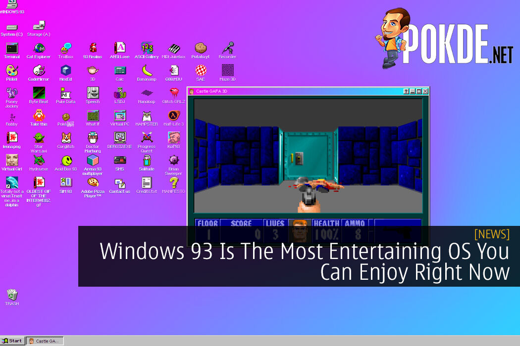 Windows 93 Is The Most Entertaining OS You Can Enjoy For Free Right Now