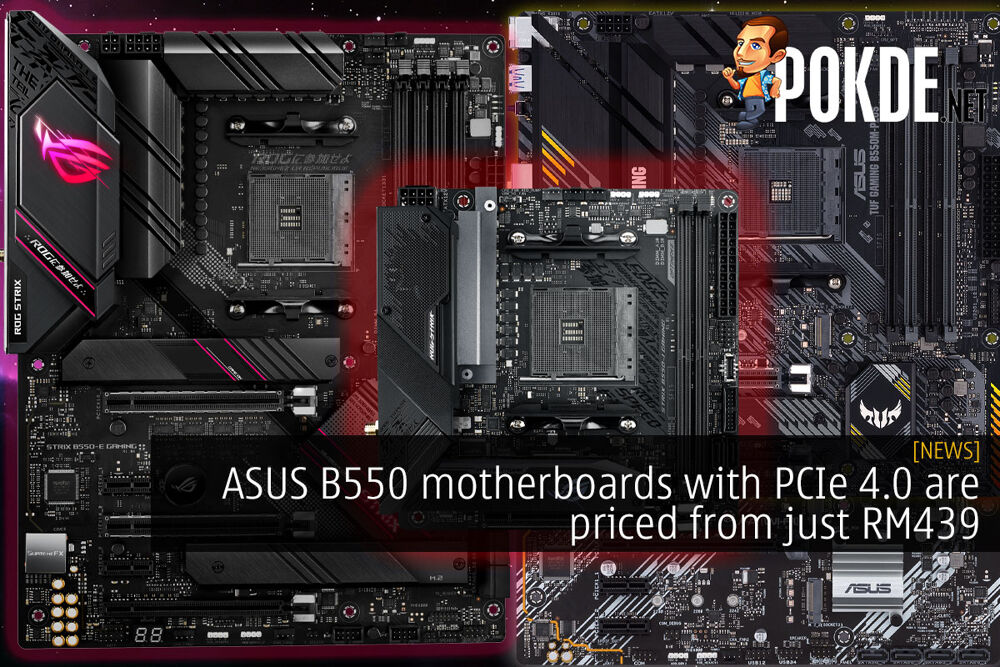 ASUS B550 motherboards PCIe 4.0 RM439 cover
