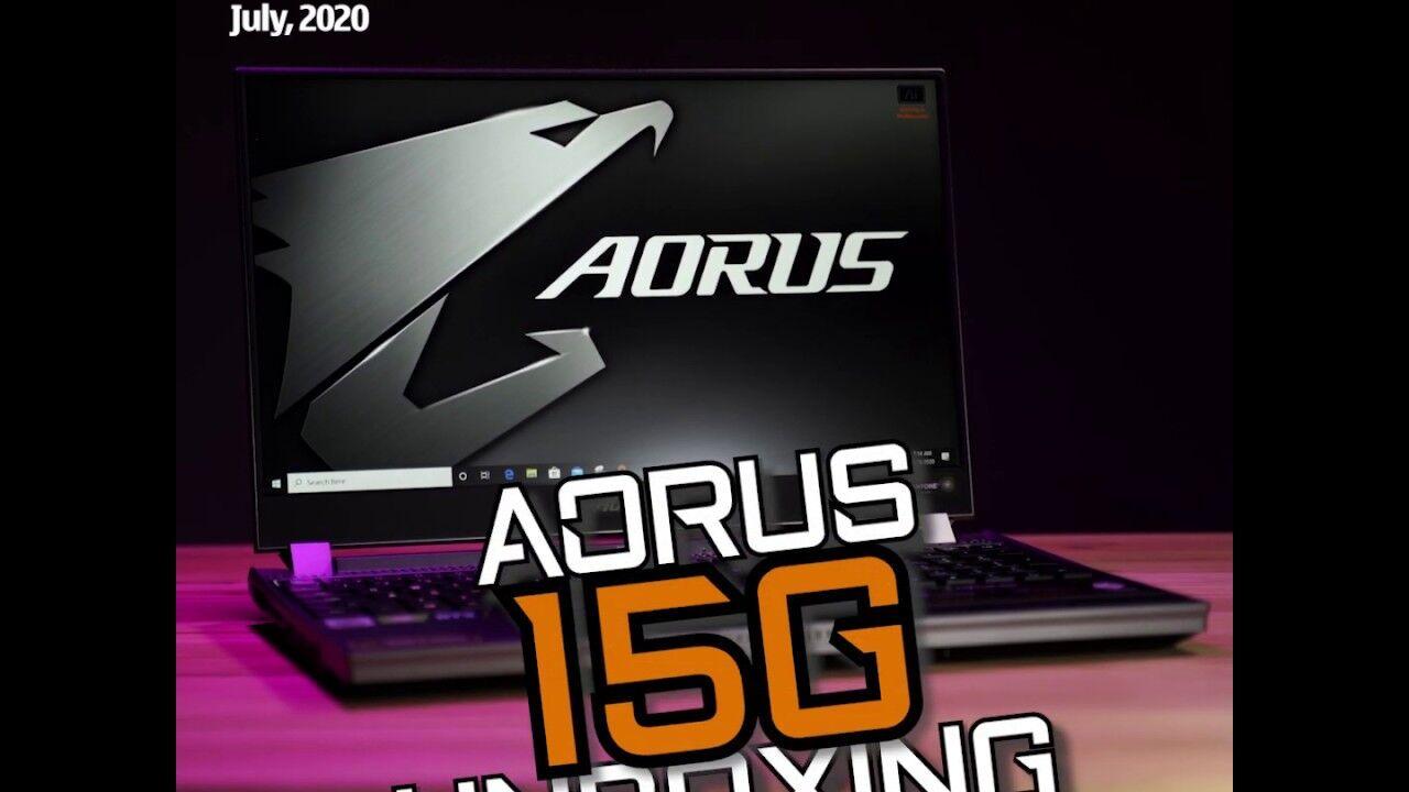 Unboxing - Gigabyte Aorus 15G 15