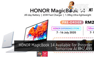HONOR MagicBook 14 Available For Preorder Tomorrow At RM2,499 30