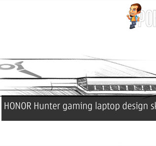 HONOR hunter gaming laptop design sketches leaked cover