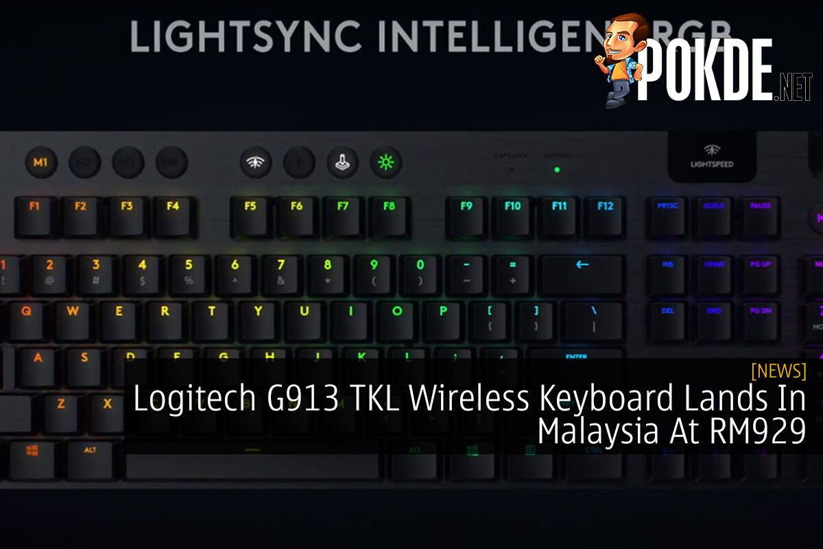 Logitech G913 TKL Wireless Keyboard Lands In Malaysia At RM929 5