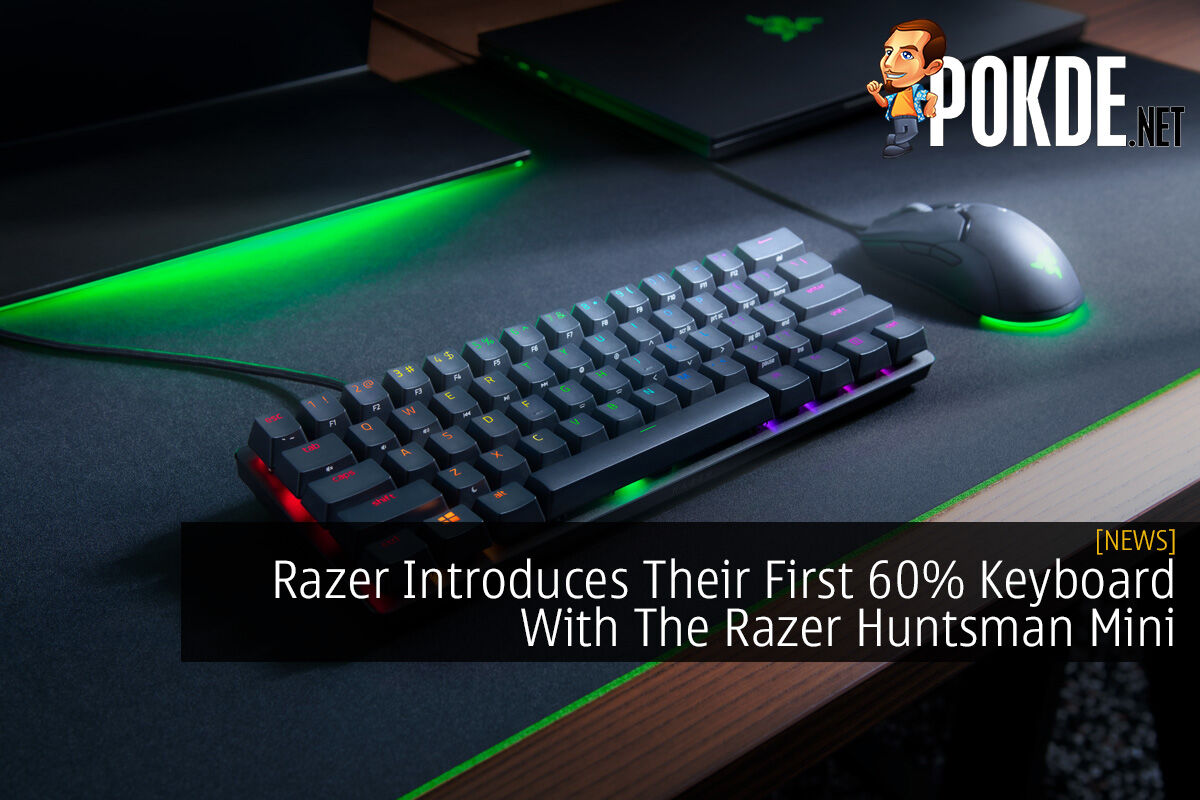 Razer Introduces Their First 60% Keyboard With The Razer Huntsman Mini 8