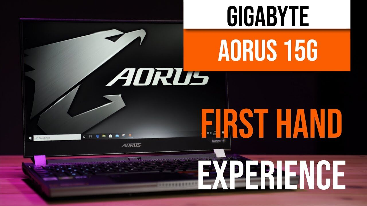 AORUS 15G First Hand Experience - Race car inspired design, heart racing performance 15