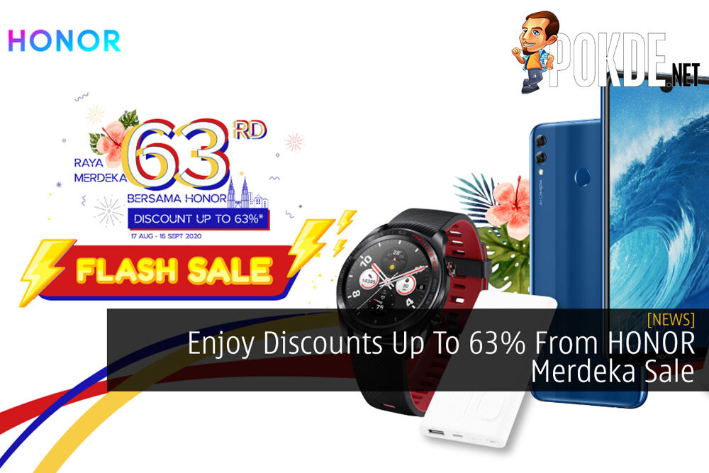 Enjoy Discounts Up To 63% From HONOR Merdeka Sale 18