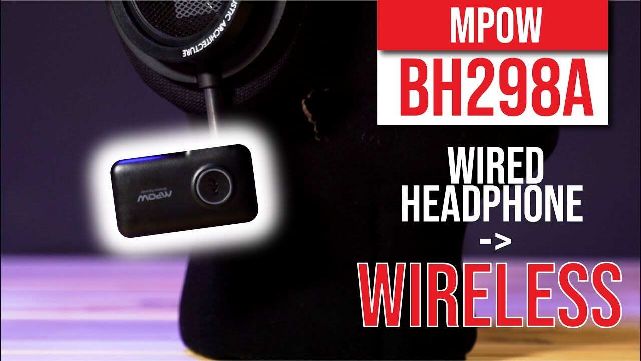 MPOW BH298A Bluetooth Receiver- Easiest way to convert wired headphone to wireless! 24