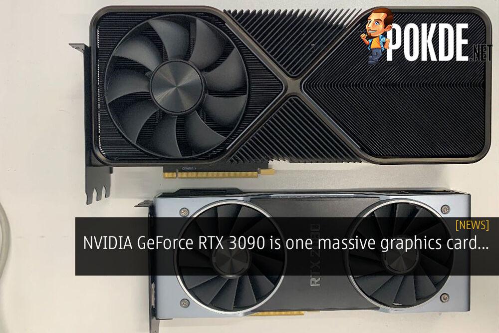 NVIDIA GeForce RTX 3090 massive graphics card cover