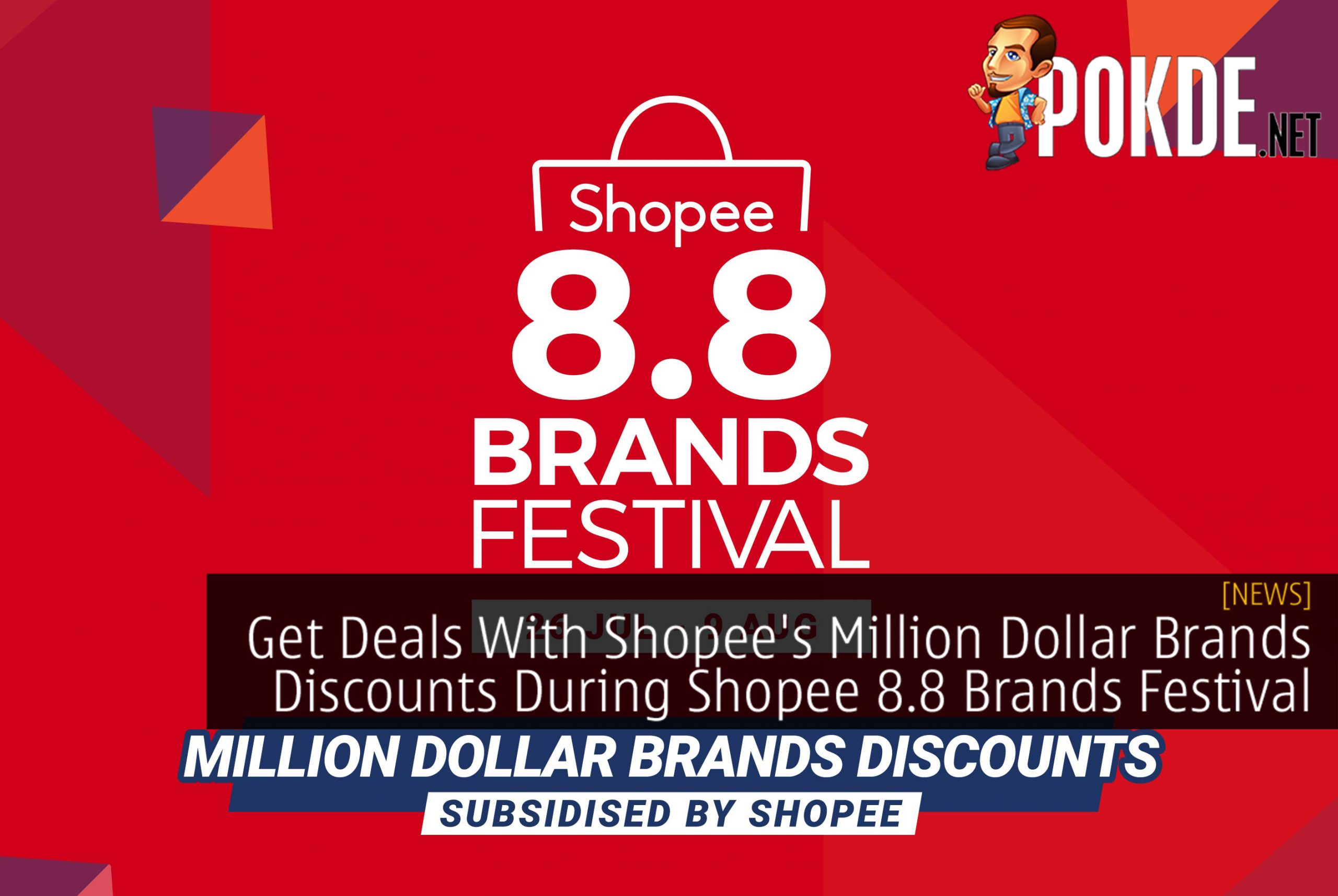 Get Deals Up To 96% Off With Shopee's Million Dollar Brands Discounts During Shopee 8.8 Brands Festival 3