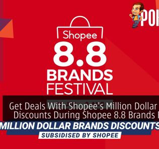 Get Deals Up To 96% Off With Shopee's Million Dollar Brands Discounts During Shopee 8.8 Brands Festival 28