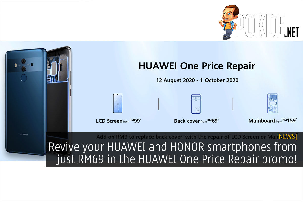 huawei one price repair cover