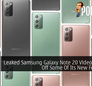Leaked Samsung Galaxy Note 20 Video Shows Off Some Of Its New Features
