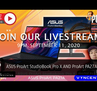 PokdeLIVE 74 — ASUS ProArt StudioBook Pro X AND ProArt PA27A Monitor! 24