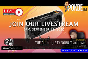 PokdeLIVE 75 — TUF Gaming RTX 3080 Teardown! 30