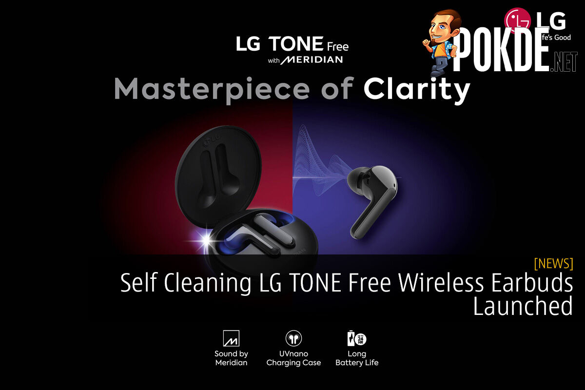 Self Cleaning LG TONE Free Wireless Earbuds Launched 2