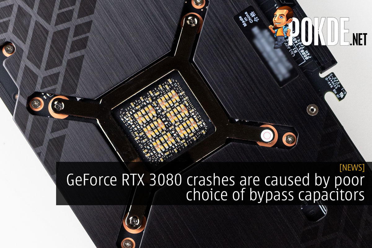 GeForce RTX 3080 crashes are caused by poor choice of bypass capacitors 2