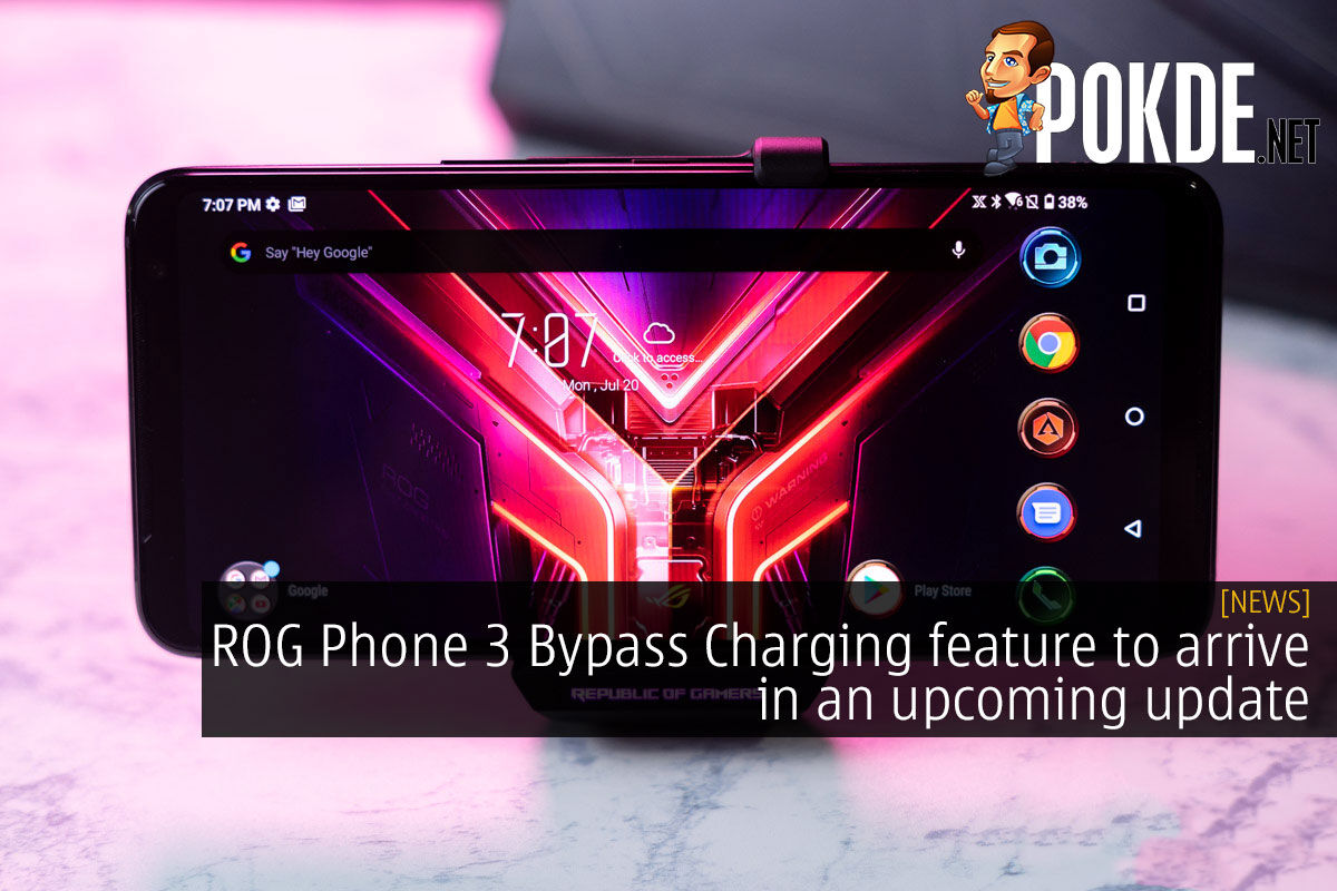 ROG Phone 3 Bypass Charging feature to arrive in an upcoming update 3