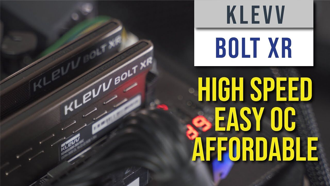 KLEVV BOLT XR Review — High Speed, easy OC, and Affordable RAM Kit 16