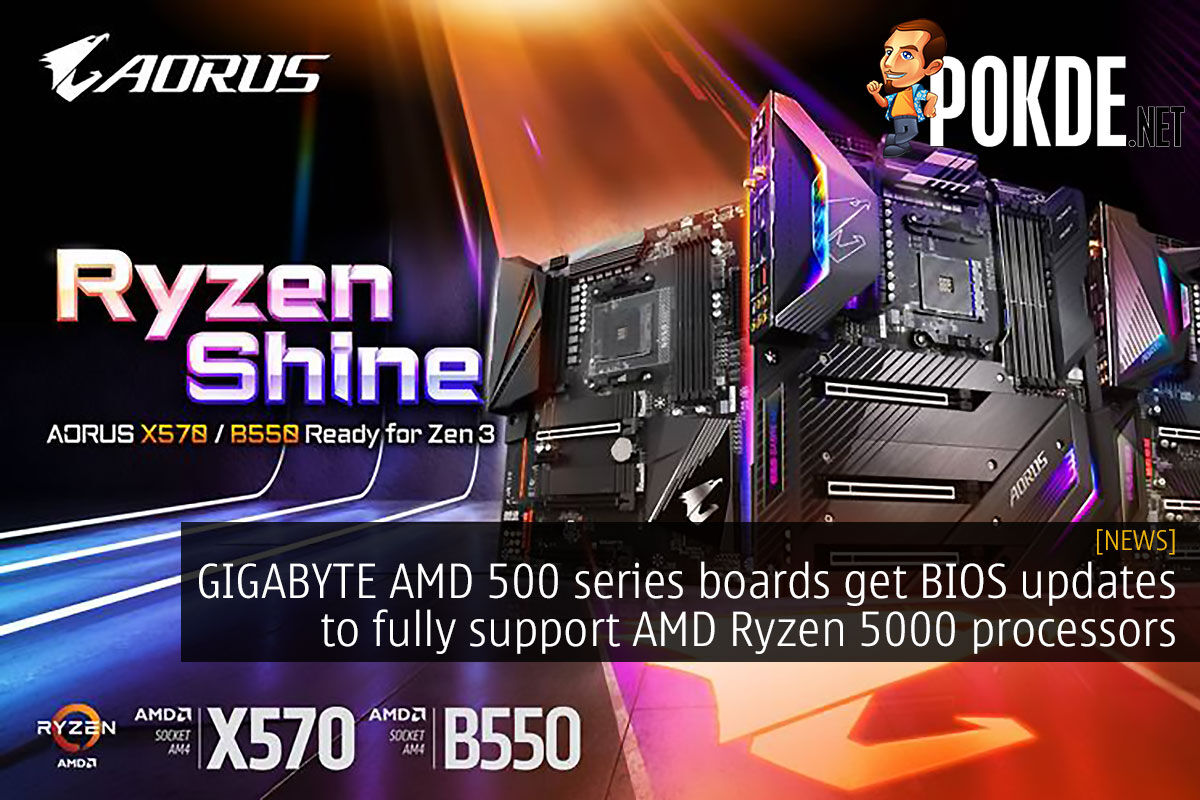 GIGABYTE AMD 500 series boards get BIOS updates to fully support AMD Ryzen 5000 processors 9