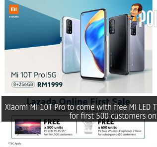 """Xiaomi Mi 10T Pro to come with free Mi LED TV 4S 55"""" for first 500 customers on Lazada 31"""