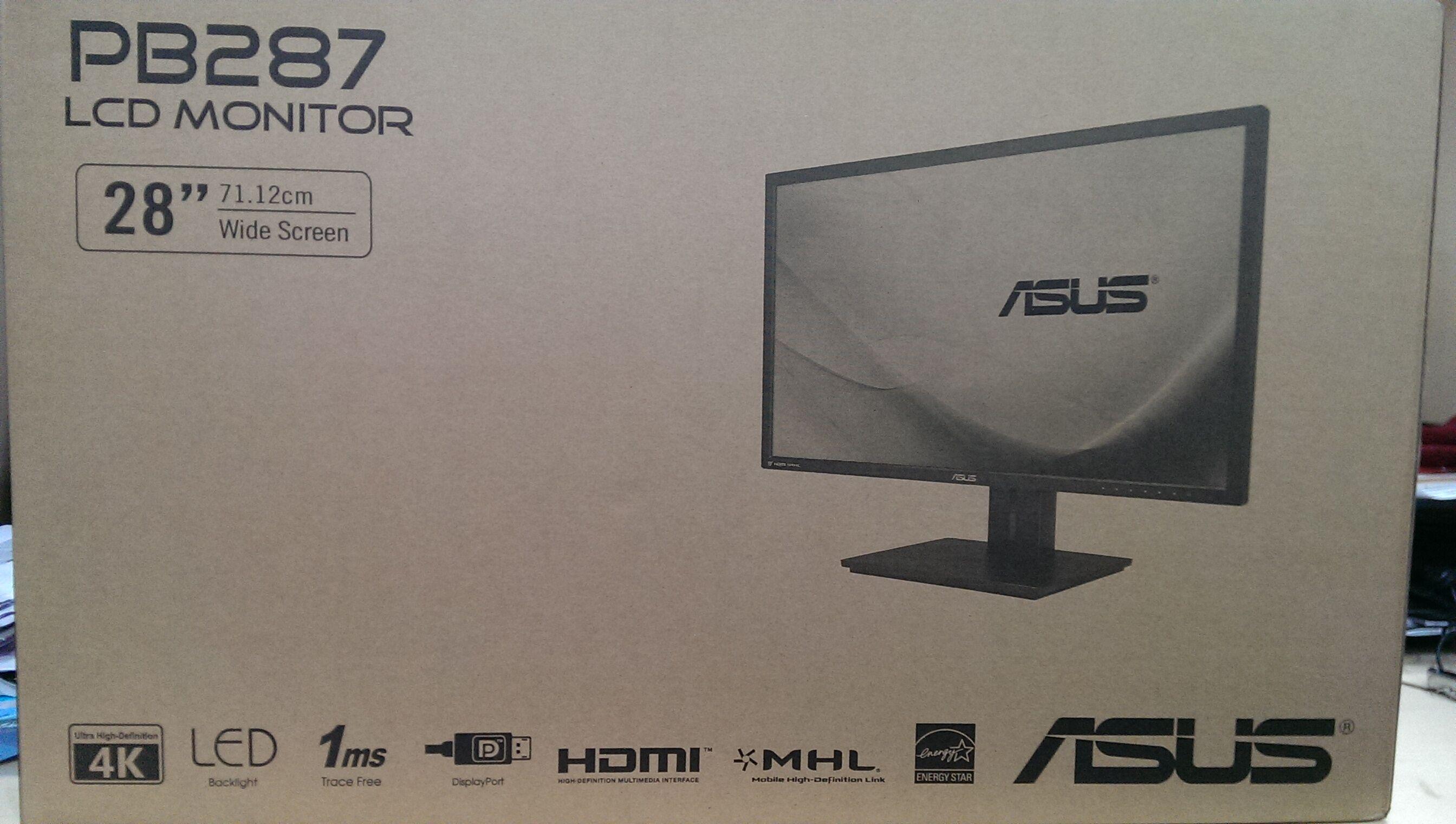 "ASUS PB287Q 28"" 4K 60Hz 1ms widescreen WLED UHD display review 30"