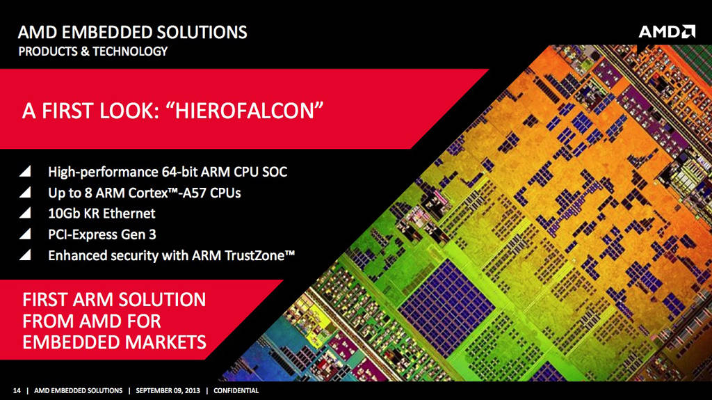 AMD Hierofalcon surfaced — 2 GHz octacore 28nm ARM chip 26