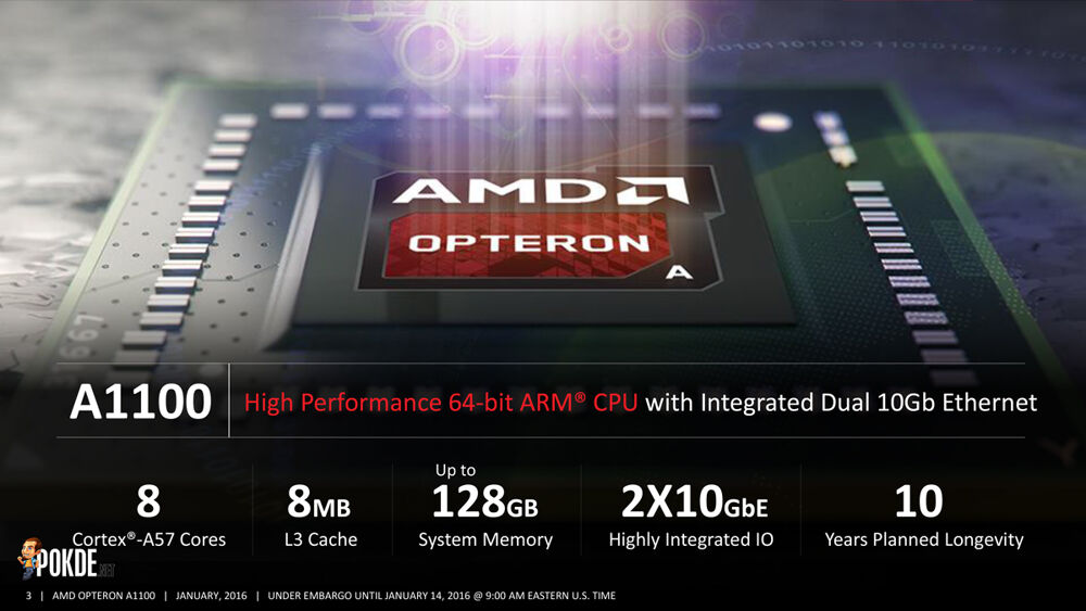 AMD Opteron A1100 SoC 64-bit ARM officially enter the market 23