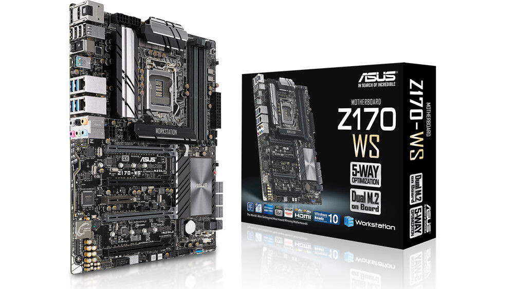 ASUS Z170-WS motherboard announced with support for quad SLI configurations 25