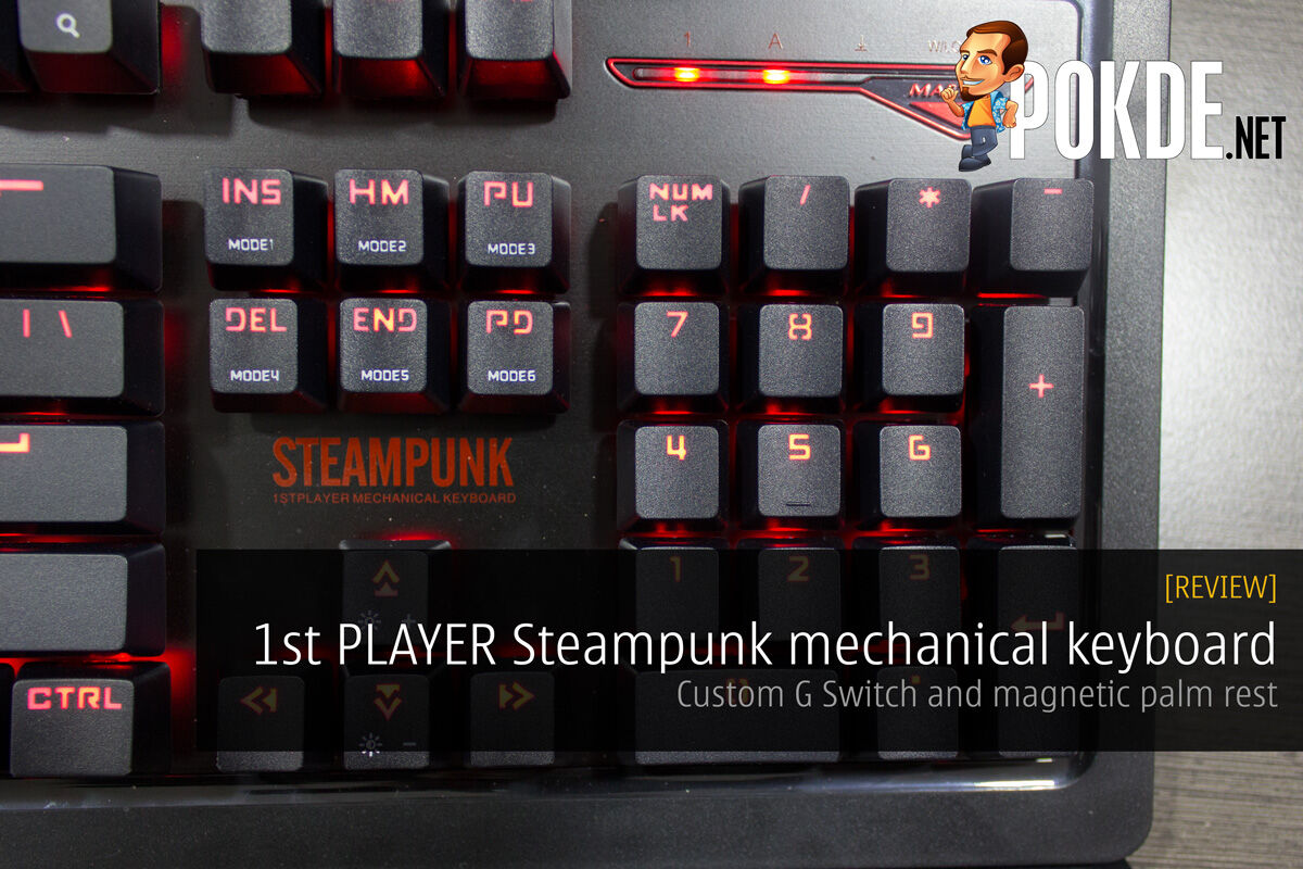 1st PLAYER Steampunk mechanical keyboard review 32