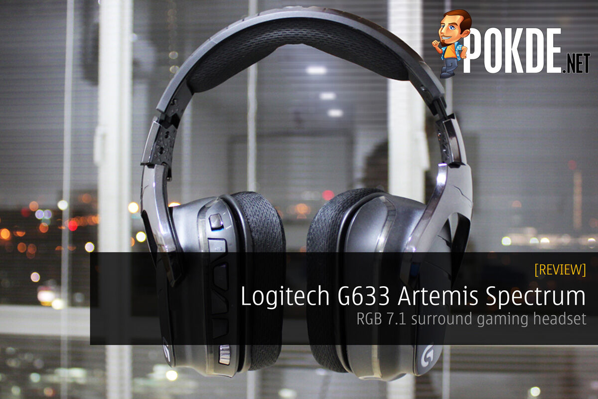Logitech G633 Artemis Spectrum, RGB 7.1 surround gaming headset review 27