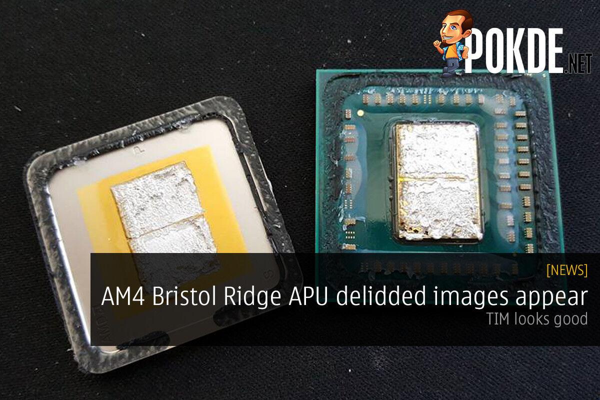 AM4 Bristol Ridge APU delidded images appear — TIM looks good 18