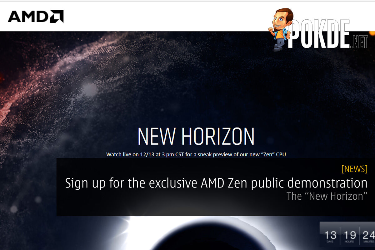 "Sign up for the exclusive AMD Zen public demonstration — The ""New Horizon"" 29"